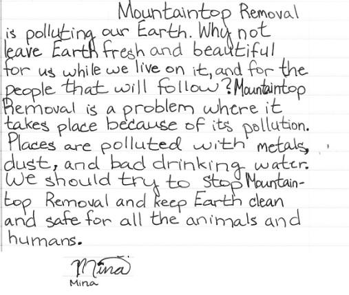 Mina's letter